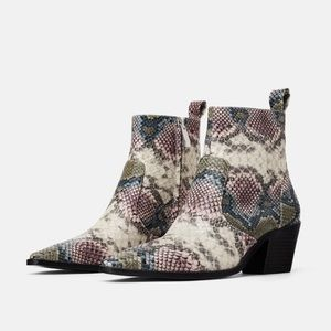 Croc ankle boots